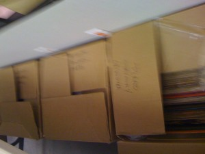 Boxes of LP's and 78rpm's Donated to the Plano Symphony