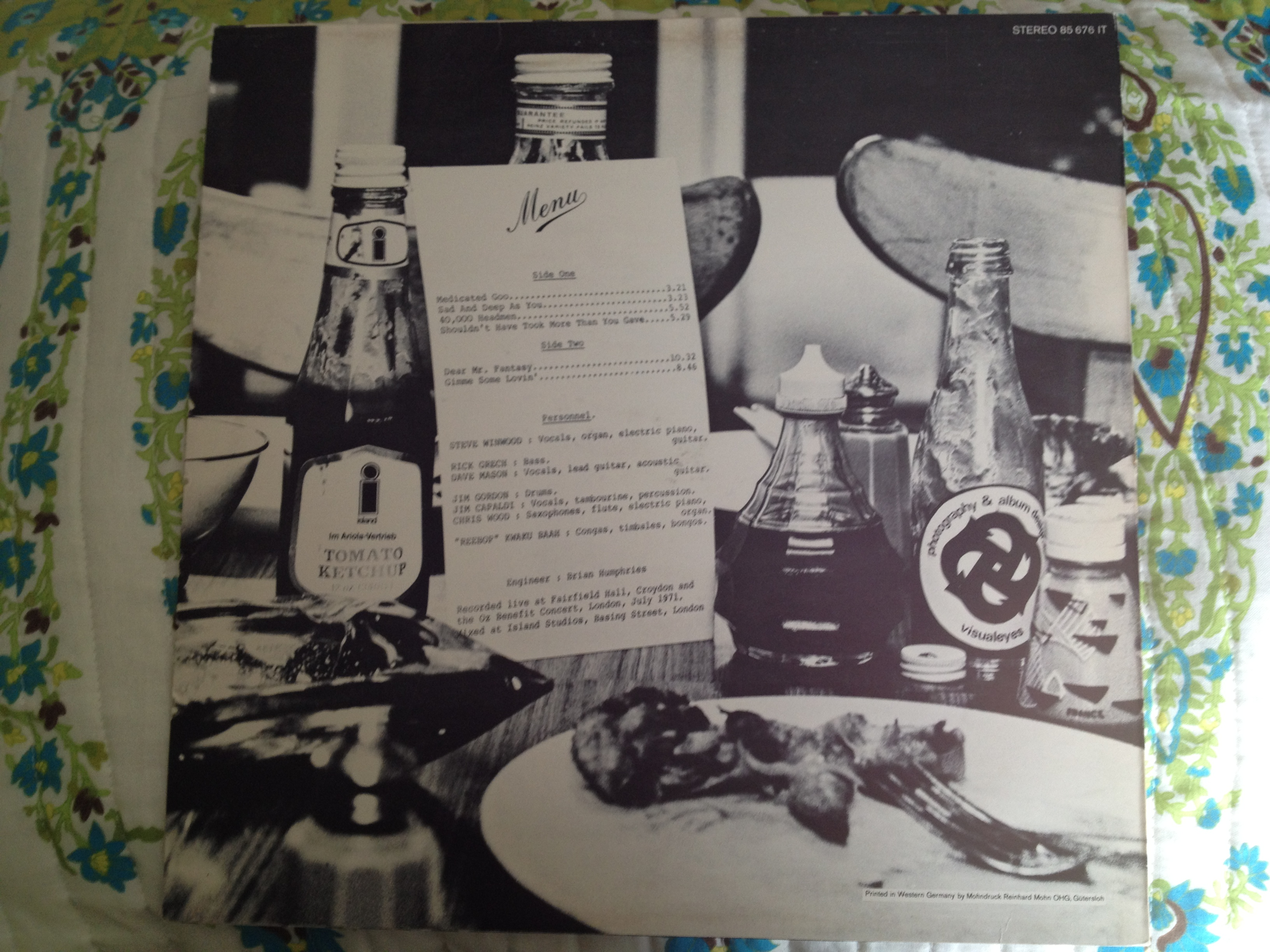 "Back cover of ""Welcome to the Canteen"""